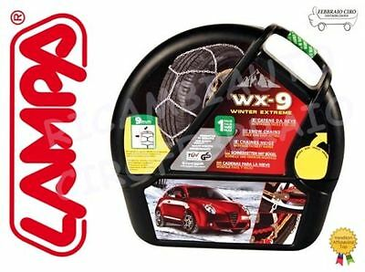 GD02013 - Catene da Neve 9mm Lampa WX-9 Gr.8 Nissan Micra V K14 gomme 195/55r16