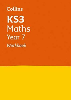 KS3 Maths Year 7 Workbook by Collins KS3 New Paperback Book