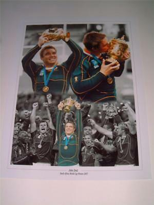 2007 RUGBY WORLD CUP FINAL JOHN SMIT OF SOUTH AFRICA EXCLUSIVE 16 x 12 PHOTO
