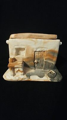 Vintage COMNCHI  Folk Art Clay Hodge Podge House. Collectable !!!