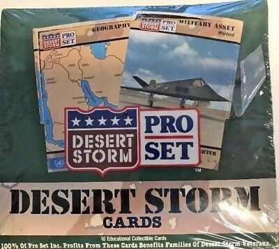 1991 Pro Set Desert Storm Trading Cards Factory Sealed Box 36 Pack/Box Military