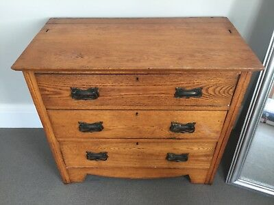 antique chest of drawers solid wood Art Deco style