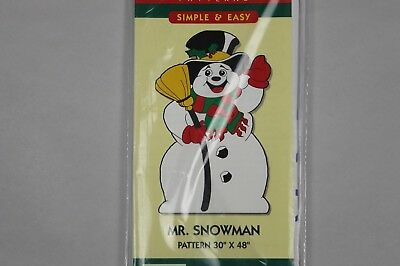 "Christmas Holiday Mr. Snowman 30"" x 48"" Do It Yourself Yard Art Pattern"