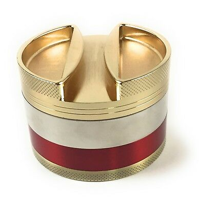 Large Tobacco Spice 3 Inch 4 Piece Aluminum Herb Grinder With Storage Cover