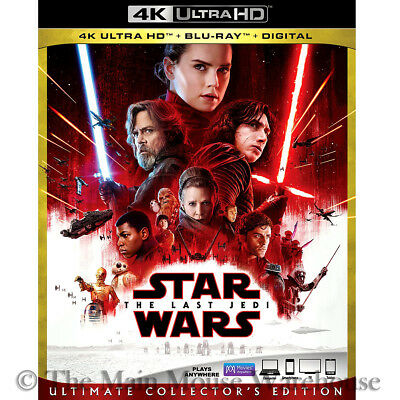 Star Wars Episode VIII The Last Jedi 4K Ultra HD Blu-ray and Digital Copy Code