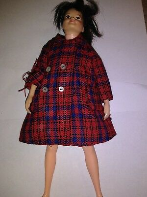Vintage Remco Libby Littlechap Doll With Coat And Skirt