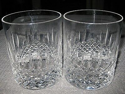 DARTINGTON  WINDSOR crystal *** LOWBALL GLASSES/TUMBLERS *** SET OF 2