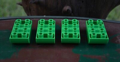 lot of 3 green Duplo plates combined shipping 2x4