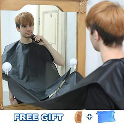 Beard Hair Catcher Apron Bib For Shaving Trimming Grooming Clipping Easy Clean