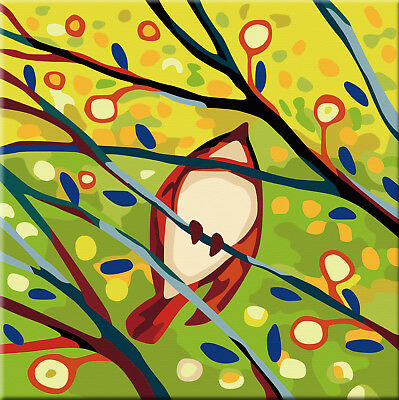 Karribi Paint by Numbers Kit Adults Kids Wooden Frame Spring Bird 6