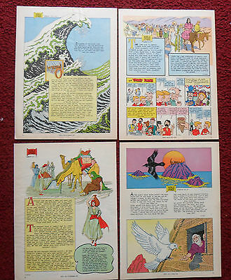 Nice Lot of 10 Different BIBLE Stories Cartoon Comics from Magazines