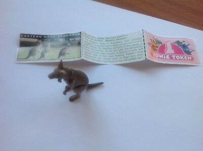 Yowie Collectible Toy Series 2 1998 Eastern Gray Kangaroo Scientific Papers