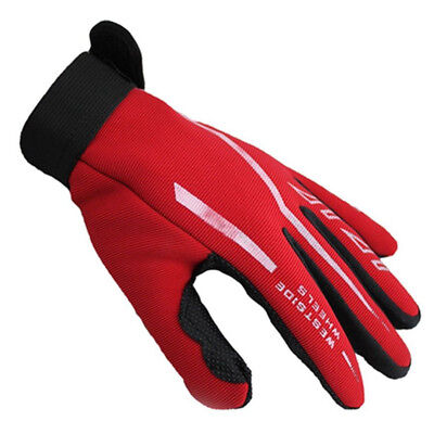 3162 Fashion Mens Full Finger Sport Gloves Exercise Gym & Gloves Gloves Black