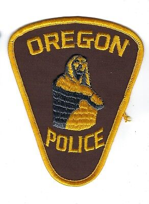 Oregon (Lapeer County) MI Michigan Police patch - NEW! *Cloth Back*