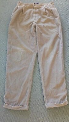 RALPH LAUREN CHAPS CORDUROY PANTS 34Wx32L BIRCH 100% COTTON
