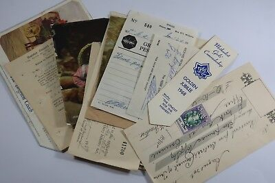 Vintage Australian ephemera including dog and dairy licences SNK896