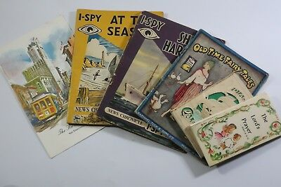 Vintage 1900's pocket books. I-spy and others SNK897