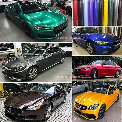 Glossy Glitter Pearl Metal Mirror Chrome Vinyl Wrap Car Paint Sticker Film - AB