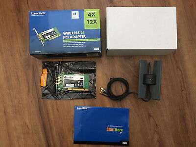 Cisco Linksys Wireless-N PCI Adapter WMP300N-UK - New Never Used - Tracking P&P