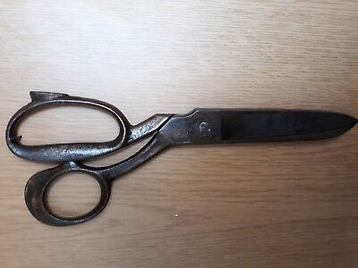 Antique Vtg Tailor Shears Scissors Marked Weyersberg Solingen Germany