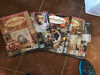 Embroidery magazines approx. 100