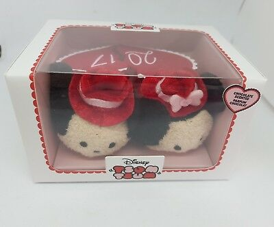 Disney Store Mickey & Minnie Mouse Valentine Tsum Tsum Soft Plush Set 2017