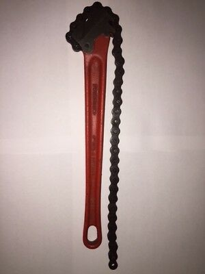 Ridgid Chain Wrench C-14 Pipe Tools Fitter Plumber Millwright Mechanic Auto