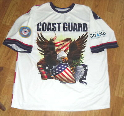 Downtown Grand Hotel & Casino Las Vegas Polyester Coast Guard  2X Shirt   New