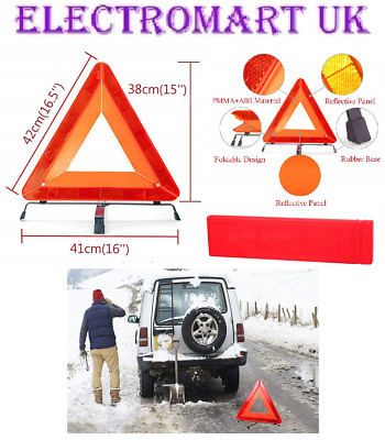 Car Breakdown High Visibility Reflective Safety Warning Emergency Triangle