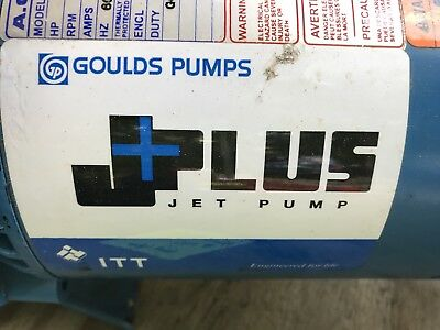 well water jet pump 1/2 HP Goulds all metal used only 1 year
