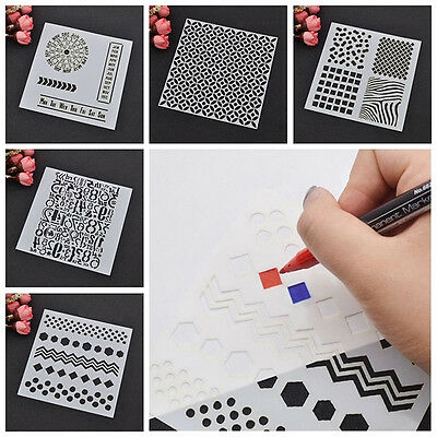 Wall Sticker Pattern Stencil  Wall Painting Craft Card Ideal Decor Template HOT