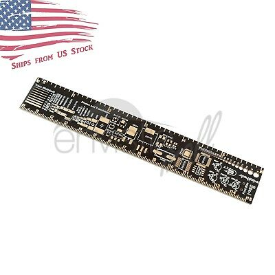 PCB Reference Ruler with Packaging Units for Electronic Design 6in / 15cm US