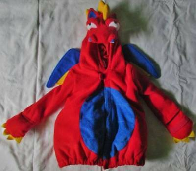 EUC OLD NAVY Fleece Dragon Jacket Size 4T/5  Boy or Girl Costume Soft Clean