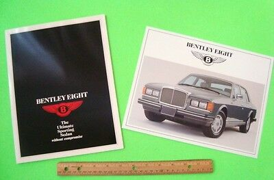 Two Diff. 1987 BENTLEY EIGHT COLOR DEALER SALES BROCHURES Both Nr-MINT