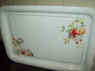 "Johnson Brothers Fresh Fruit Metal Tray By Brabantia Rare 20"" X 14"" - Excellent"