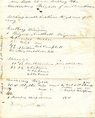 Civil War Tennessee Union Spy Report On Size And Morale Of Confederate Forces