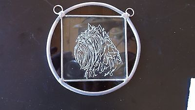 Affenpinscher- Beautifully  hand engraved ornament by Ingrid Jonsson