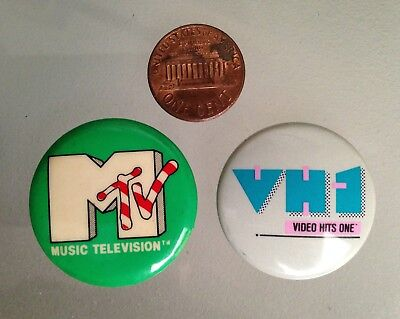 MTV Music Television VH-1 Video Hits 1 Collector's Buttons Pins