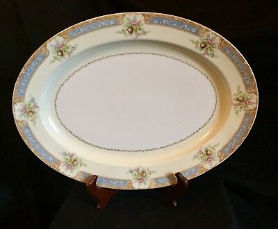 Vintage Floral Serving Plate & Gravey Dish  Noritake PERFECT CONDITION!