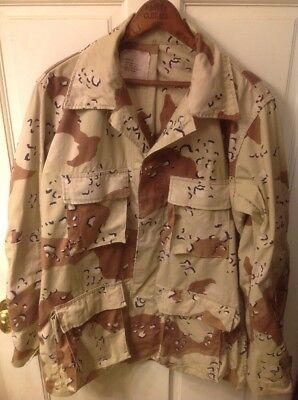 USGI Six Color Desert Chocolate Chip Camo DCU Shirt Medium Long Desert Storm