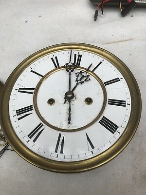 spares or repair Antique Vienna Clock Movement And Bits