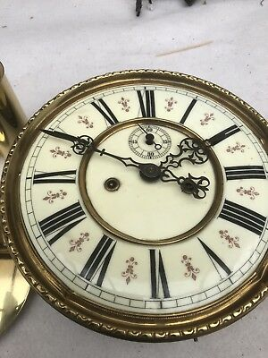 spaers or repair Antique Twin Weight Vienna Clock And Bits