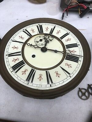 spares or repair Antique Vienna Twin Weight Clock Movement And Bits