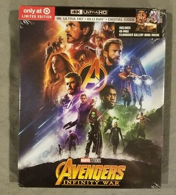 Avengers Infinity War 4K UHD + Blu-Ray + Digital HD Target Exclusive  ship asap