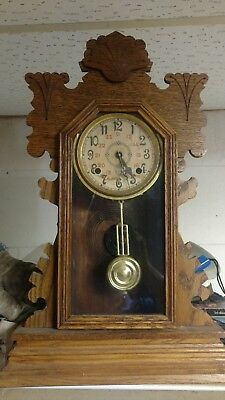 Antique Ansonia 8-Day  Shelf Clock  turn of the century. Works perfect