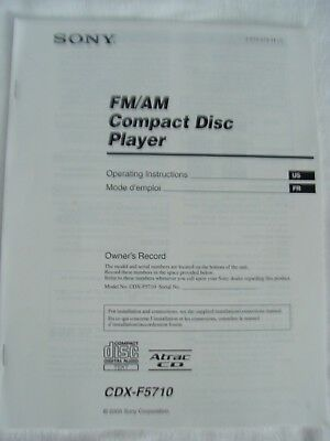 sony manual cdx-f5710 fm/am compact disc player