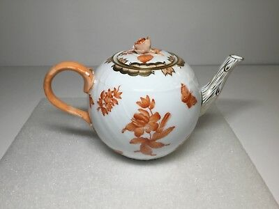 Herend Teapot Pot Rust Fortuna Butterfly 1603 VBOH