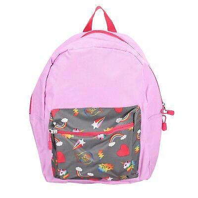 "Pink Unicorn Rainbow 15"" Kids Backpack Pre School Toddler Book Bag Preschool"