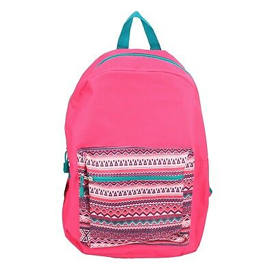 "Pink Geometric 15"" Kids Backpack Pre School Toddler Book Bag Preschool"