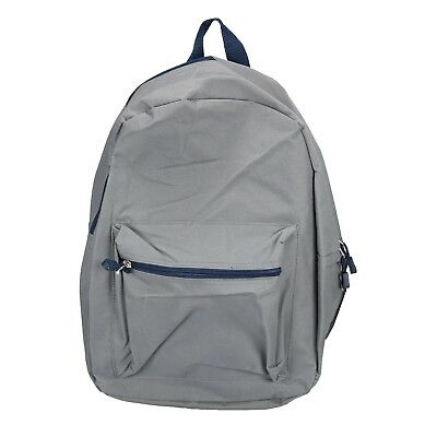 "Grey 15"" Kids Backpack Pre School Toddler Book Bag Preschool"
